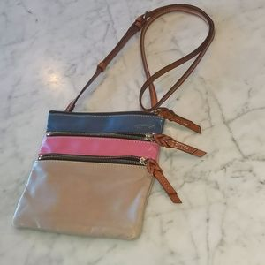 Dooney & Bourke soft leather triple zip cross body
